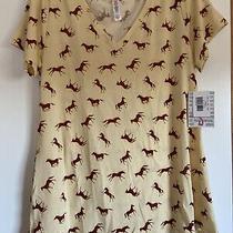 Nwt Lularoe Christy Horse Print Shirt Size Small Photo