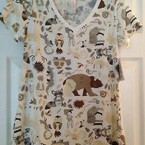 Nwt Lularoe Xxs Christy T Short-Sleeved T-Shirt Animals Woodland Creatures Women Photo