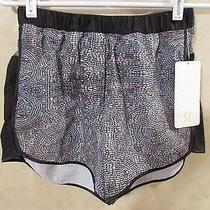 Nwt Lululemon Black Bead Envy Silver Spoon Rise & Shine Boxer Shorts8sold Out Photo