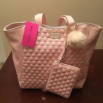 Nwt Luv Betsey Betsey Johnson Tote 2 in 1 Blush Large Quilted Tote Bm18985 Photo