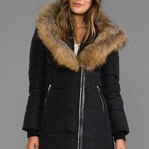 Nwt Mackage 'Trish' Genuine Rabbit & Coyote Fur Trim Down Coat Jacket Small S Photo