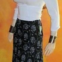 Nwt Macy's Style & Co 78 Black & White Maxi Skirt 10 Petite Photo