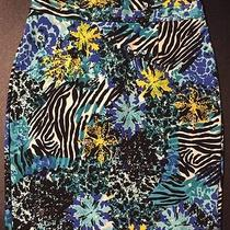 Nwt Macys Grace Elements Summer Skirt Black Blue White Womens Small S Retail 50 Photo
