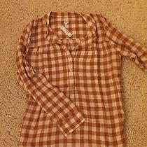 Nwt  Madewell 1937 Checked Peasant Tunic Size Small Rust & Ivory Photo
