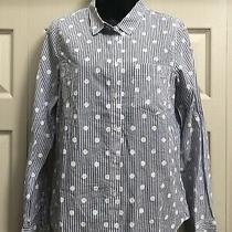 Nwt Madewell 1937 Finely Crated Christy Dawn Womens Woven Dot Top Shirt Light Photo
