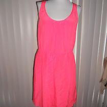 Nwt Madewell 1937 Neon Flamingo  Silk Island Dress Sleeveless Size 12 Photo