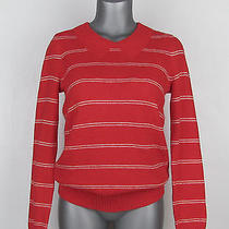 Nwt Madewell Cotton Blend Red/white Striped Collar Sweater S (Small) Photo