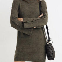 Nwt Madewell Donegal Sweater Dress Donegal Forrest Green X-Large Photo