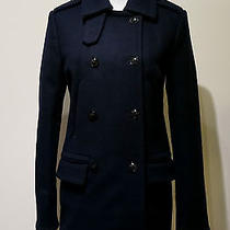 Nwt Madewell Double Breasted Wool Peacoat Size M Navy Coat Sold Out 275 Photo