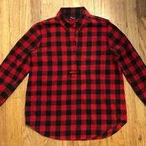 Nwt Madewell Flannel Popover Shirt Buffalo Check Sz Small Red Black Plaid J Crew Photo
