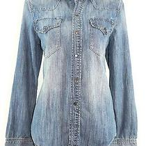 Nwt Madewell for J Crew Western Jean Shirt in Nightsky Wash Sz L Sold Out Photo