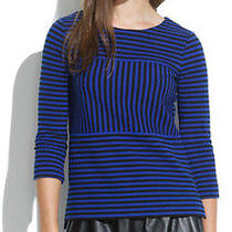 Nwt Madewell Gallerist Ponte Top in Stripe Size Xs and S Photo