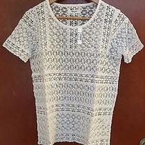 Nwt Madewell Ivory See Through Sweater Sz S  Photo