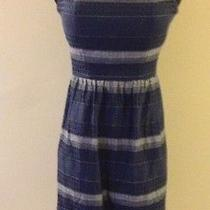 Nwt Madewell J Crew Dress Halter Navy Striped Size 2 74624 Photo