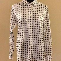 Nwt Madewell J Crew Navy and Ivory Shirt Size 4 69.50 01709 Photo