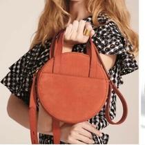 Nwt Madewell Juno Circular Leather Crossbody Bag Terra-Cotta Orange Photo