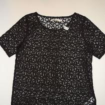 Nwt Madewell Lace T-Top Item 46169 Black Size M Photo