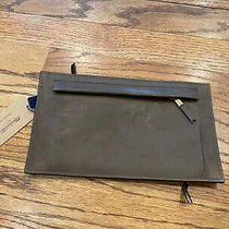 Nwt Madewell Navy Brown Leather Double Side Wallet Clutch  Photo