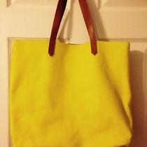Nwt Madewell the Leather Transport Tote / Bright Yellow  Photo