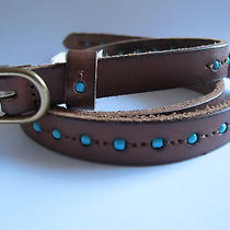 Nwt Madewell Women's Beadmaker Skinny Belt Brown Size Xs Photo