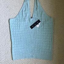 Nwt Magaschoni Mag Aqua Cable Knit Halter Top Womens Xl Extra Large 0x Photo