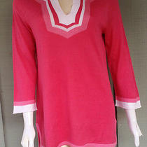 Nwt Magaschoni Pink Lightweight Knit Tunic Top Large L 248 Photo