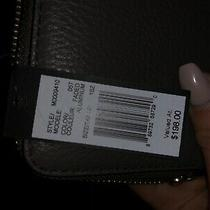 Nwt Marc by Marc Jacobs New Q Slim Zip Continental Leather Wallet Faded Aluminum Photo