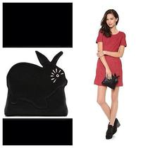 Nwt Marc by Marc Jacobs Rabbit Clutch - Black - 178 Photo