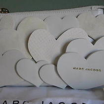 Nwt Marc Jacobs Love Heart Leather Clutch - White (2.5