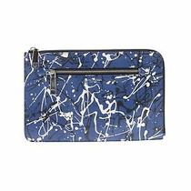 Nwt Marc Jacobs Women Blue Leather Clutch One Size Photo