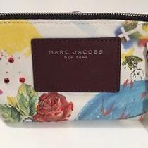 Nwt Marc Jacobs Womens Ecru Multi Small Trapezoid Pouch Clutch or Cosmetic Bag Photo