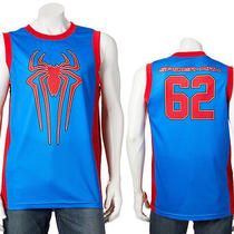 Nwt Marvel Amazing Spider-Man Official Licensed Jersey Peter Parker Spiderman 62 Photo