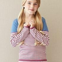 Nwt Matilda Jane 435 Girl Size 12 Secret Fields Sweet Pea Striped Sweater  Photo