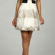 Nwt Max & Cleo Nikki Strapless Taffeta Dress Size 12 178 Polka-Dot White Belted Photo