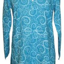 Nwt Me Mary Ellen Water Swirls Tunic Cover-Up Aqua Del Sol 69 S Fresh Produce Photo