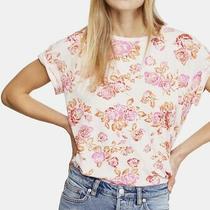Nwt Medium Free People Tourist Printed T Shirt Blush Pink Top 68 Photo