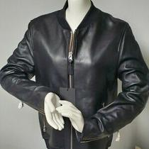 Nwt Men Mackage Leather Riding Moto Jacket Size 38/ Medium Photo