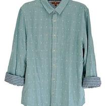 Nwt Men's 7 for All Mankind Turquoise Long Sleeve Shirt Size L Photo