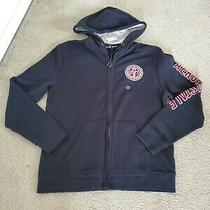 Nwt Men's Aeropostale Sz Xl Black Hoodie Sweatshirt Full Zip Logo Jacket Hooded  Photo