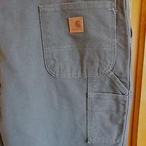 Nwt Men's Carhartt 44x30 Washed Duck Work Dungaree Moss Str8 Leg Full Seat Thigh Photo