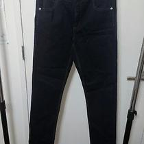 Nwt Men's Cheap Monday Black Coated Blue Skinny Jeans  W32 X L34 Photo