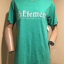 Nwt Men's Element Green Graphic Print Short Sleeve T-Shirt M Photo