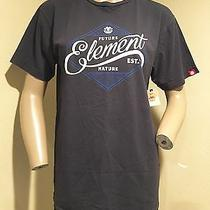 Nwt Men's Element Washed Black Print Short Sleeve T-Shirt M Photo