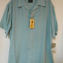 Nwt Men's Haggar Casual Button Front S/s Shirt Size L  Retail Price 50.00 Photo