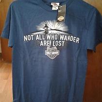 Nwt Men's Harley-Davidson Rock Hill Sc T-Shirt - Blue Sz. S - Two-Sided(hd20) Photo