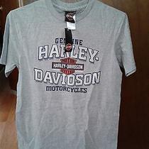 Nwt Men's Harley-Davidson Rock Hill Sc T-Shirt - Sz. S - Gray Two-Sided(hd21) Photo