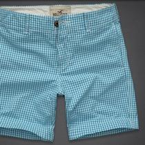 Nwt Men's Hollister by Abercrombie & Fitch Marina Park Shorts (33) Aqua Photo