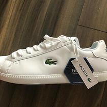 Nwt Men's Lacoste Graduate White Logo Sneakers  Size 10  Original Price 159 Photo