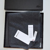 Nwt Men's Lacoste Scarf 100% Cashmere Dark Gray Retail 200 Photo