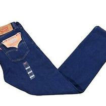 Nwt Men's Levis 501 Original Buttonfly Straight Leg Stretch Blue Jeans 32x34 Photo